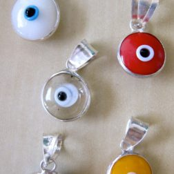 Sterling Silver Evil Eye Pendants